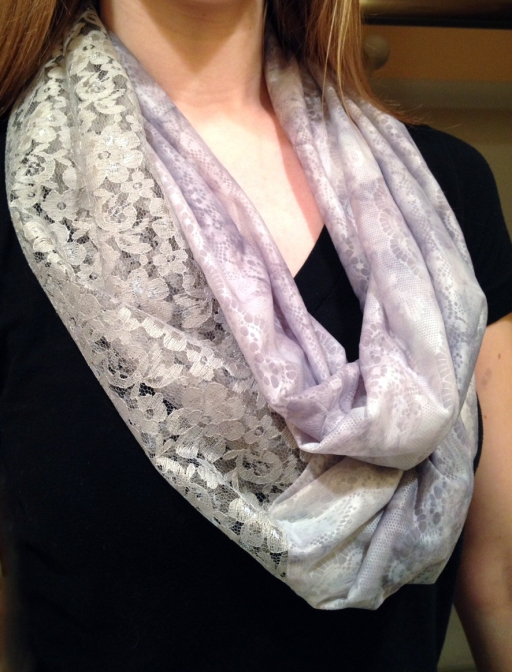 Infinity scarf with lace — Pinteresting Activities